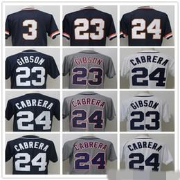 Wholesale Cool Retro - 2018 Mens #3 Alan Trammell #23 Kirk Gibson #24 Miguel Cabrera dark blue Retro Mesh Flex Base cool 100% stitched