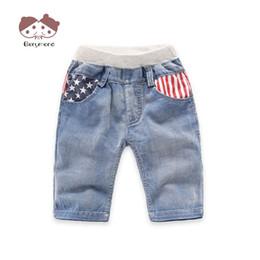 Nuevos jeans patrón chicos online-2-6T Baby Boy Jeans Shorts Nueva marca Summer Children Pantalones Niños Shorts Jeans Star Stripe Pattern Moda Niños Pantalones cortos de mezclilla