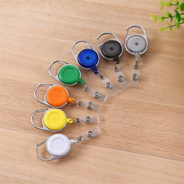 Wholesale Wholesale Keychain Rings Clips - Telescopic Keychain Creative Antitheft Rope Key Ring Retractable Reel Pull Keybuckle ID Card Badge Tag Clip Holder Carabiner Style 1 8gs Y