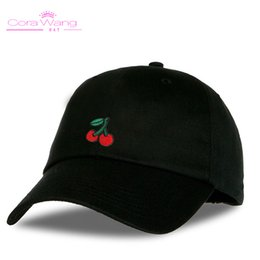 1b1a501c713 Cora Wang Dad Hats for women s Baseball Cap Soft cotton men Snapback Caps  Unisex Cherry Embroidered fruits sun hat women