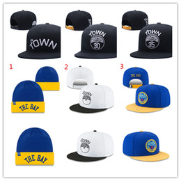 Wholesale Golden Statement - Golden State Stephen Curry Kevin Durant Statement Edition The Town Wordmark Snapback Caps The Bay Wordmark Chinese Heritage Knit Hat beanies