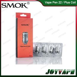 Wholesale Pens Core - Authentic SMOK Vape Pen 22 Coil 0.3ohm 0.25ohm X4 Core Replacement Coils For Vape Pen 22   Plus Kit 100% Original