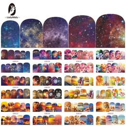 12 Designs Nagellack Aufkleber Wasser Decals Sommer Strand Sternenhimmel Floral Slider Nail Art Decor Full Wraps Maniküre BN853-864 von Fabrikanten
