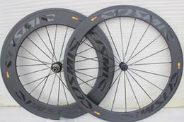 Wholesale 88mm wheels - powerway R36 hubs mavic cosmic carbon bicycle wheels 700C With 23mm width Road bike Cosmic 60+88mm carbon wheels free shipping