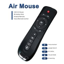 Wholesale tv pc usb stick - Best wireless air mouse IR Learning 3D motion stick android games air mouse voice remotes mini fly air mouse for tv box mini PC tablets