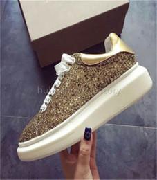 Rabatt Gold Flache Schuhe Bling 2018 Gold Flache Schuhe Bling Im