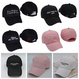 Wholesale Wholesale White Caps - 7 Colors Unisex I Came to Break Hearts Ddad Hat Baseball Cap Adjustable Trucker Hats Almost Famous Caps CCA9220 3pcs