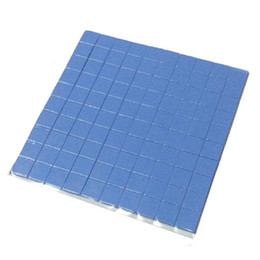 Almohadilla de refrigeración pc cooler online-2018 de alta calidad 10mm * 10mm * 1mm 100 pcs Thermal Pad GPU CPU Disipador térmico Enfriamiento Conductivo Silicone Pad