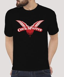 hot cock men Promo Codes - COCK SPARRER CLASSIC WINGS LOGO PUNK ROCK Casual Tee T-Shirt HOT ITEM Summer Short Sleeves Cotton T Shirt top tee