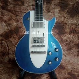 Gitarrenkorvette online-Kostenloser Versand / 48 Stunden schneller Versand./China Gitarren Custom Shop / Metall blau / Mahagoni / Palisander Griffbrett / Corvette 1960 E-Gitarre