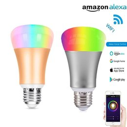 Wholesale Android Lights - Wifi smart light bulbs smart led bulb Wi-Fi light bulb 7W equivalent 60W work with Alexa Google Home compatible IOS android