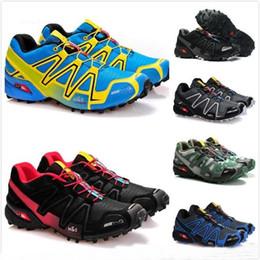 Zapatos través funcionamiento de velocidad online-2018 Nuevo llega Zapatillas Speedcross 3 salomon solomon CS Zapatillas de running Walking Outdoor Speed cross Zapatillas de deporte iii Athletic Hiking Size 46