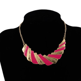 732a388c4ac7 Seblasy Vintage Punk Enamel Geometric Patterns Rectangle Statement  Necklaces for Women High Quality Party Jewelry Accessories
