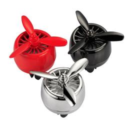 Wholesale car air freshener auto - Car Ornaments Air Force 3 Propeller Shape LED Light Air Freshener Automobile Interior Vent Clip Auto Decoration Perfume Diffuser