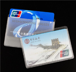 Wholesale ic set - Classic anti-magnetic Wear Transparent Frosted Document ID Card Package Bank Credit Card Sets IC Card Sets Bus Custom