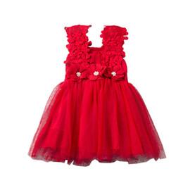 Wholesale Low Price Girl Dresses - Lowest Price summer girls lace dress Crochet Vest Dress sundress Princess Girls sleeveless crochet vest Lace dress 6colors choose K0049