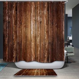 Neue vorhänge muster online-Neue Ankunft Duschvorhang Südostasien Retro Einfache streifen Muster Duschvorhang Wasserdicht Badezimmer Stoff Hause Dekorative