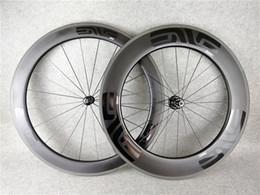 Wholesale road bike tubular - EVE bob 60mm +88mm 700c wheelset carbon road bike clincher wheels+aero spokes 20-24H+ skwer glossy matte
