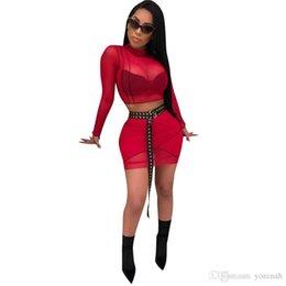 Venta al por mayor envío gratuito nuevo estilo 2 piezas conjunto ver a través de las mujeres delgado Mini vestido de malla de verano Body desde fabricantes