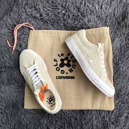 Wholesale Le Run - 2018 Con verse one star X Golf le fleur TTC Atheletic Shoes Neighborhood Casual Shoes Lace-up Outdoor Boost Yellow Follower Running shoes