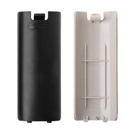Canada Nouvelle batterie en plastique couvercle de la porte arrière couvercle shell remplacement pour Wii télécommande porte de la batterie noir blanc de haute qualité FAST SHIP Offre