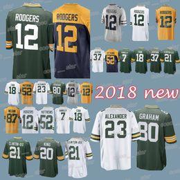 f0bc47500 Green Bays 66 Packer jersey Aaron Rodgers Jaire Alexander Jordy Nelson Josh  Jackson Jimmy Graham Kevin King Ha Clinton-Dix 2018-2019 jerseys