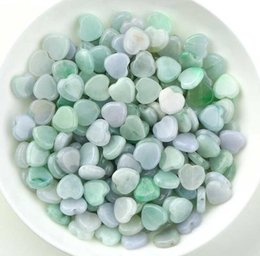 Wholesale jade small beads - Burma natural waxy jade small heart love DIY bracelet necklace beads woven handmade jewelry accessories