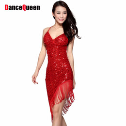 2018 Sexy Latin Dance Dress Mujeres Niñas Salsa de Poliéster Samba Tango  Ballroom Competition Costume Lady Práctica   Competencia Dance Ofertas de  sexy ... 7492f2ec2d055