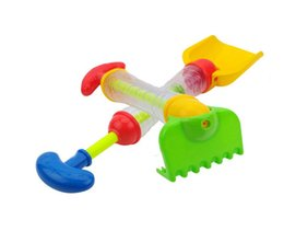 Wholesale Kids Beach Set - 2 IN 1 Water Gun Sand Shovel Rake Bath Toy For Children Outdoor Fun Water Blaster Toys for Swimming Pool Bath Tub Beach Toys for Kids