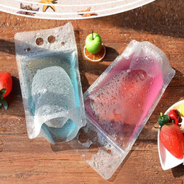 Temizle Stand-up İçecek İçecek Kahve Plastik Plastik Fermuar Ambalaj Çanta Açılıp Kapanabilir Zip Kilit Kılıfı Gıda İçme Makyaj Saklama Çantası cheap bagging stand nereden torbalama standı tedarikçiler