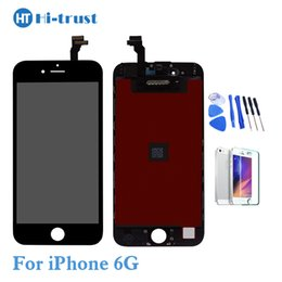 Wholesale Lcd Display Iphone Tools - 1 Pcs Grade AAA+++LCD Display Touch Digitizer Screen With Frame Assembly Replacement For iPhone 6 6g LCD With Tools With Free Shipping