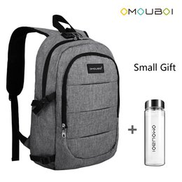 Wholesale Interface Travel - OMOUBOI Anti-thief Travel Laptop Backpack with USB Charging Port & Headphone interface,Waterproof Business Backpack With Free Water Bottle