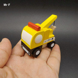 Wholesale Big Cool Cars - Exquisite Cool Tiny Cars Wooden Trailer Truck Mini Vehicle Toys For Kids Child Gifts Learning Educational Teaching Prop Gadget