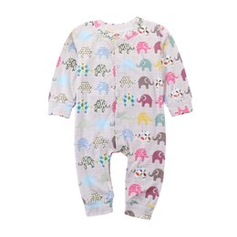 07a1f1a024c Mikrdoo New Arrived Kids Baby Boys Girls Clothes Colorful Elephants Printed Long  Sleeve Romper Fashion Jumpsuit Clothing