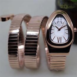 Дата рождения горного хрусталя онлайн-Новый змея часы леди мода часы розовое золото женщины горный хрусталь часы платье браслет кварцевые часы Бесплатная доставка