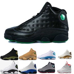 Wholesale Cheap Band Shoes - Cheap Famous Trainers 13 XIII Retro 13s Hologram Men's Sports Basketball Shoes Barons (white black grey teal) US 8-13