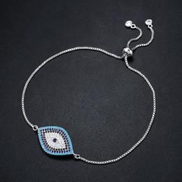 Moda turca on-line-Novo Designer Simples de Ouro Turquesa Mal Olho Pulseira Pave CZ Olho Azul Pulseira Cadeia de Ouro Moda Charme Pulseiras para As Mulheres brtk53