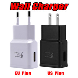 Wholesale quality walls - Tope Quality Fast Charger Travel Wall Chargers Fast Charging Adapter US EU Plug For Samsung Galaxy S6 S8