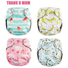Wholesale baby outer - 4Pcs Newborn Pocket Cloth Diaper NB Baby Diaper Charcoal Bamboo Inner Waterproof Minky PUL Outer Fit 2-4kg Babies