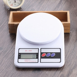 Wholesale Electronic Kitchen Baking - 20pcs Digital Scale High Precision Electronic Household Kitchen Scales Baking Available Balance 1kg 5kg 7kg 10kg Weighing Scale SF-400