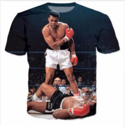 Ali camiseta on-line-Newest Fashion Mens Womans Muhammad Ali Summer Style Funny 3D Print Casual T-Shirt Tops Plus Size ZGX074
