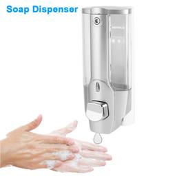 Ванна мыло шампунь диспенсер 350 мл Настенное крепление душ жидкое мыло диспенсер с замком для ванной комнаты санузел от Поставщики дозаторы мыла настенные