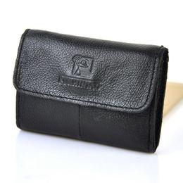 Wholesale coin snap wallet women - Men Women Vintage Genuine Real Leather Name Business Card Holder Case Zip Coin Bag Wallet Pouch Retro Practical Purse Snap Case