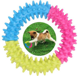 Wholesale Cartoon Dog Games - Dog Toy Pet Chew Rubber Spinose Ring Teeth Chew Training Pet Dog Toys for Dog Funny Games Interactive Doggy Toy Pet Supplies