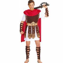 Costume d'armes en Ligne-Nouveau Adulte Hommes Fantaisie Robe Roman Brave Guerrier Hercules Soldat Gladiateur Bras Garde Cosplay Costume Halloween Maquillage Fête