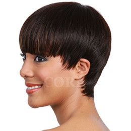 Wholesale Indian Curly Hair For Sell - Hot selling Afro Kinky Curly Wig Human Hair short Full Wigs For Black Women Natural Hairline Glueless Capless Wigs