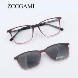 Wholesale magnetic goggles - Fashion Men TR90 Sun Glasses Frame Magnetic Clip On Polarized Lens Frame Glasses Dual Purpose Sunglasses for Women #7055