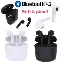 Wholesale Mini HBQ I8 Auricular inalámbrico Bluetooth Auriculares para automóvil Auriculares estéreo Auriculares Auriculares Auriculares Caja de carga para iPhone Samsung