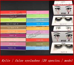Wholesale Black Slender - New kylie false eyelashes mink pure handmade 3D false eyelashes thick slender 20 Model