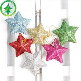 2019 piccola decorazione della casa 2019 Decorazioni per feste natalizie Decorazioni natalizie a stella a cinque punte decorazione per la casa con soffitto decorazione di 4,5 cm piccola stella sconti piccola decorazione della casa